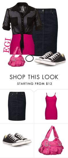 """""""Pink, Black and Denim. ~Gracie"""" by isongirls ❤ liked on Polyvore featuring moda, Gerry Weber Edition, BKE y Converse"""
