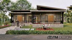 Simple but appealing three-bedroom bungalow - Ulric Home Roof Styles, House Styles, One Storey House, Paint Combinations, Modern Bungalow House, Porch And Balcony, House Floor Plans, Future House, Architecture Design