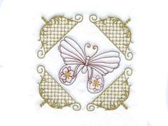 Elegant Butterfly Quilt Blocks Machine Embroidery Designs http://www.designsbysick.com/details/bfly