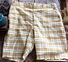 Check out this item in my Etsy shop https://www.etsy.com/listing/466381653/vintage-retro-estate-plaid-bermuda