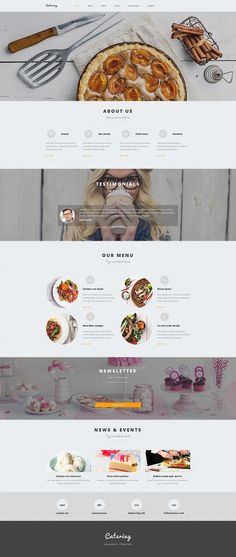 Have an idea to make a website for food services? Catering Responsive Moto CMS 3 Template will meet all your demands! Check out our catering website builder. Web Design Blog, Food Web Design, Web Design Quotes, Page Design, Ui Design, Design Layouts, Menu Design, Brand Design, Flat Design