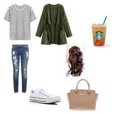 """Meet me at Starbucks"" by madison-kohut on Polyvore featuring Tommy Hilfiger, Converse and Michael Kors"