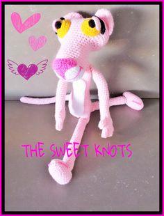 pantera rosa uncinetto crochet amigurumi regalo di TheSweetKnots