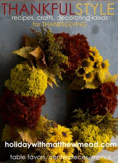 Hopefully a new magazine from us in 2013 Wreath Crafts, Mead, Fall Decor, Centerpieces, Thanksgiving, Herbs, Wreaths, Creative, Holiday
