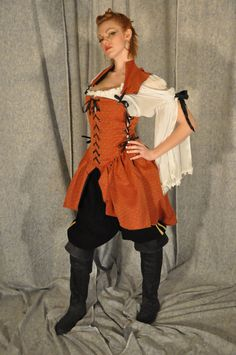 Pirate Wench Cosplay Costume. $300.00, via Etsy.
