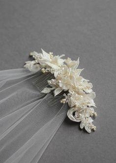 Bespoke for Sarah_lace wedding headpiece with drop veil 3 wedding jewelry Layers of Lace Wedding Headband, Diy Wedding Veil, Gold Wedding Crowns, Lace Wedding, Wedding Ceremony, Wedding Flowers, Wedding Dresses, Hair Jewelry, Wedding Jewelry