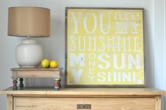 Yellow Sunshine Sign by BetweenYouAndMeSigns on Etsy, $100.00