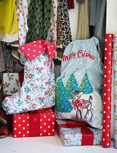 Cath Kidston - Christmas Deer & Spot Stocking