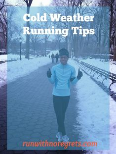 Brrr...it's cold out! And you want to run, but how?? Learn how to handle running in the cold with these tips at runwithnoregrets.com!