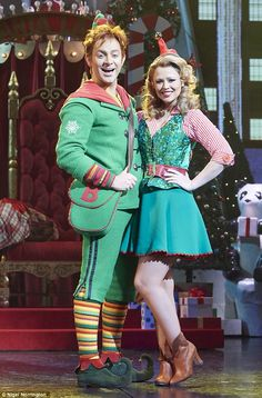 Kimberley Walsh makes debut in Elf: The Musical | Daily Mail Online