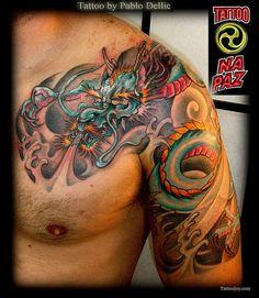 Colorful Dragon Tattoo