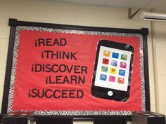Looking for the best ideas for reading bulletin boards? We've rounded up some of our favorite reading bulletin boards from around the web, including seasonal, punny, and tech-inspired ideas. Computer Bulletin Boards, Reading Bulletin Boards, Bulletin Board Display, Classroom Bulletin Boards, Preschool Bulletin, Classroom Ideas, Reading Boards, Technology Bulletin Boards, Ideas