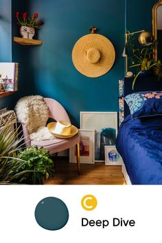 The best blue paint colors. From light to dark, bold to serene, these shades of blue paint are universal favorites. Find the perfect blue hue for your home. Best Blue Paint Colors, Blue Green Paints, Shades Of Blue, Hue, Bedrooms, Popular, Living Room, Interior Design, Dark