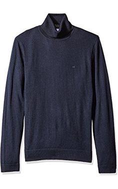Calvin Klein Men's Merino Tubular Roll Neck Sweater, Roma, X-LARGE ❤ Calvin Klein Men's Collections