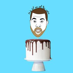 Original illustrated Kanye West birthday cake topper. Ima let you eat that cake...taken from the famous speech given when interrupting Taylor Swift Ima let you finish but Beyonce had one of the best videos of all time Give your cake a fresh look with a cool, modern and bad ass