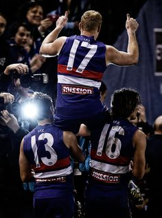 Cooney, Gia and Griff. Round 21: Western Bulldogs v Adelaide Crows - WESTERNBULLDOGS.com.au