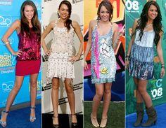 """Quando vivia a protagonista """"Hannah Montana"""", a estrela aparecia em tapetes vermelhos quase sempre com vestidos curtos e com alguma dose de brilho. Fofa demais!"""