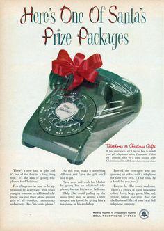 Telephone as Christmas gift 1955