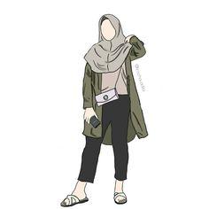 hijab drawing Ideas For Fashion Illustration Sketches Outfit. Fashion Illustration Sketches, Fashion Sketches, Drawing Sketches, Illustration Art, Drawings, Cover Wattpad, Tmblr Girl, Fashion Model Drawing, Hijab Drawing
