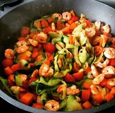 Vegetable stirfry with gambas