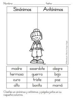 Mauricio Vargas nos ha compartido este material; excelentísimo para la clase de español en primarias.