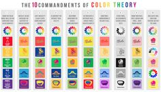 Psychology infographic and charts The 10 Commandments of Color Theory by DesignMantic. Infographic Description The 10 Commandments of Color Theory by Elements And Principles, Elements Of Art, Design Elements, Web Design, Logo Design, Design Shop, Design Taxi, Color Secundario, Design Color