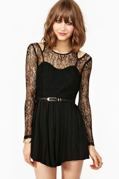 Black Romper with a lovely light touch of lace - I love rompers! :)