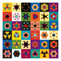 Kaleidograph toy.  Create your design by mix-matching the cards.