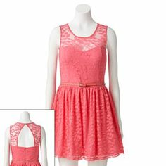 Candie's Lace Sweetheart Skater Dress - Juniors. My 8th grade semi-formal dress