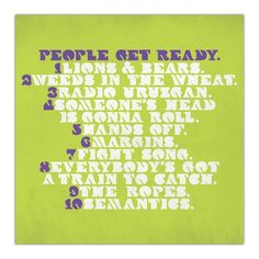 People get ready, an amazing band from the Netherlands, Lions and bears.