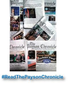 Serving Southern Utah County Since 1888 #readthepaysonchronicle @paysonchronicle #newspaper #PaysonUtah