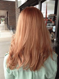 Kristy Lage ( an independent stylist of Salon Karma, Omaha… Peach Hair, Rose Gold Hair, Hair Day, New Hair, Light Red Hair, Dark Hair, Brown Hair, Light Auburn Hair Color, Blond Rose