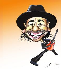 Look carefully caricature and guess the name of musician.