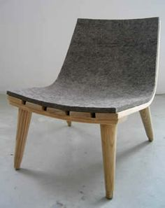 Felt-covered chair  Some serious felting possibilities here!