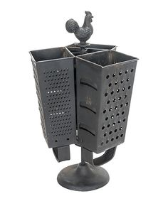 Rooster Cheese Grater Three-Section Utensil Holder | zulily