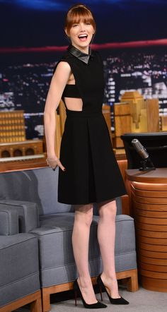 Emma Stone on The Late Night Show with Jimmy Fallon.                                                                                                                                                      Más