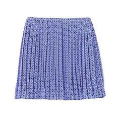 Banana Republic Women Print Pleated Mini Skirt (45 PEN) ❤ liked on Polyvore featuring skirts, mini skirts, print mini skirt, banana republic skirts, short skirt, short mini skirts and blue pleated mini skirt