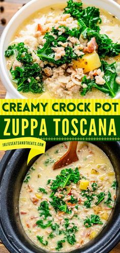 Craving for a hearty comfort food recipe? Learn how to make Zuppa Toscana from scratch! This slow cooker recipe has the ultimate flavor! Pin this delicious and easy comfort food for dinner recipe! Game Day Appetizers, Appetizer Recipes, Dinner Recipes, Best Crockpot Recipes, Slow Cooker Recipes, Toscana Recipe, Football Party Foods, Zuppa Toscana, Mozzarella Sticks