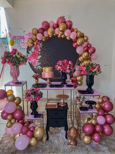 Birthday Doodle, Gold Birthday, 15th Birthday, Birthday Parties, Sweet 16 Party Decorations, Birthday Decorations At Home, Balloon Decorations Party, Wish Gifts, Bts Birthdays