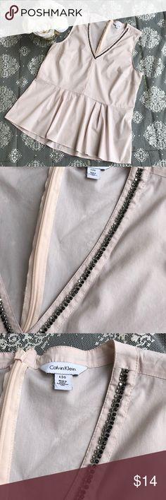 Calvin Klein Sleeveless top Excellent condition,  size large 76% cotton, 21% nylon, 3% elastane. Calvin Klein Tops Blouses