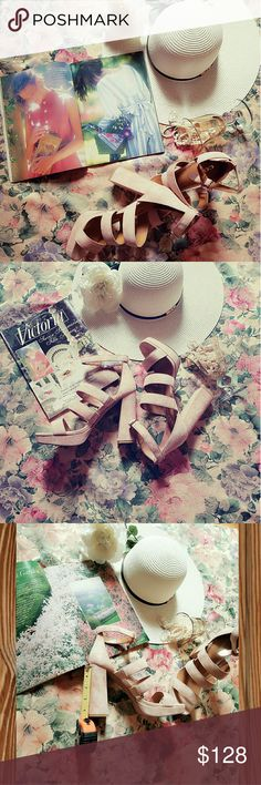 Coach Suede Blush Pink Sandal high Heels Coach Blush Pink Sandal high Heels. Brand new Comes With box.   These super cute heels are soft to the touch and sexy perfect for your summer glow up! Coach Shoes Heels