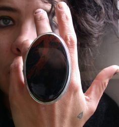 the return of the ridiculously huge farrah new by lovinganvil, via Etsy. Minimal Jewelry, Modern Jewelry, Silver Jewelry, Silver Rings, Jewelry Gifts, Jewelry Accessories, Jewelry Design, Jewellery, Chunky Rings