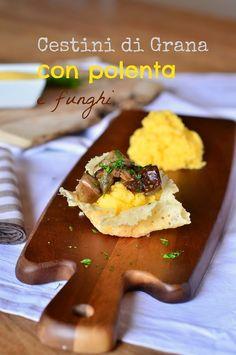 I cestini di Grana con polenta e funghi, sono degli antipasti molto semplici da preparare nella stagione autunnale, ma allo stesso tempo car...