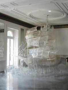 I wish I could  photograph this Ice ship sculpture created by set designer and art director Rhea Thierstein | Shot by Tim Walker (from blog 'paper scamper') -pinned by Elizabeth Messina | Still in love with this theme for the kids, even if some of the things I pin are clearly out of my budget ;D