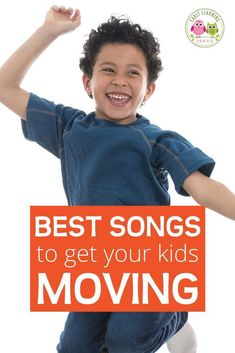 Here is a list of the best fun preschool movement songs. Try out a few of these silly action songs to get your preschoolers moving and grooving. These  are great circle time ideas and music ideas for preschool, pre-k, kindergarten or with your kids for at home learning. Includes links to youtube preschool songs. Work on gross motor skills coordination. Your kids will love to dance and sing along with these early childhood favorites
