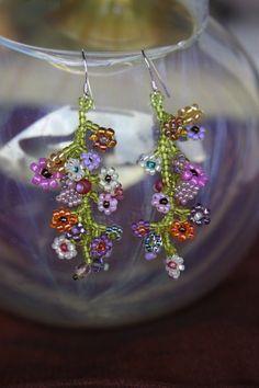 *BLÜTENRAUSCH* Ohrhänger Blumen Rocailles Lucite von ❀ ♥Venusflower♥ ❀ auf DaWanda.com