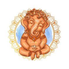 Arte Ganesha, Ganesha Sketch, Ganesha Drawing, Ganesha Tattoo, Ganesha Painting, Lord Ganesha, Baby Ganesha, Shri Ganesh, Tatoo