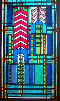 Frank Lloyd Wright  -  Stained Glass                                                                                                                                                      Mais