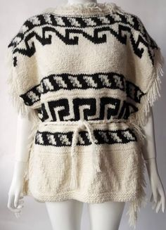 Isabel Marant Wool Alpaca Blend Aztec Texas Poncho Jacket Dress Sweater Small | eBay