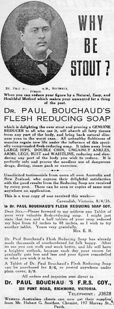 Flesh-reducing soap...now made with SIX types of corrosive bacteria!!! 1920s